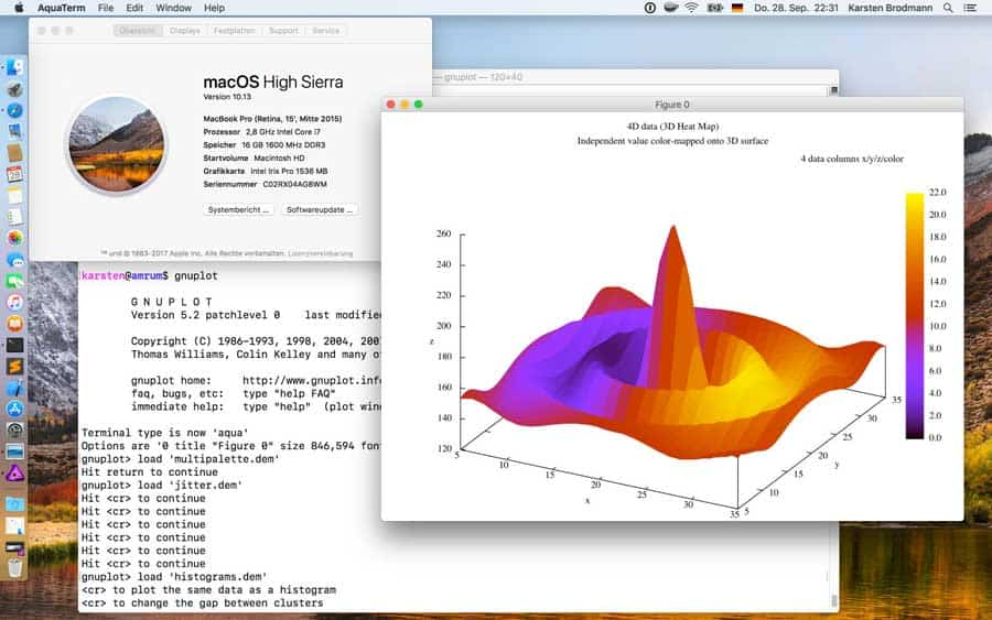 gnuplot unter macOS High Sierra