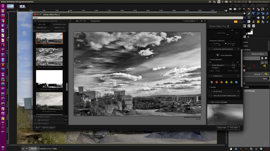Bildbearbeitung in SilverEfex