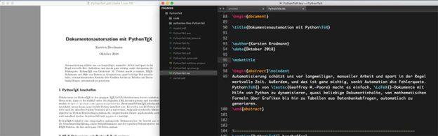 Headerbild: Dokumentenautomation mit PythonTeX
