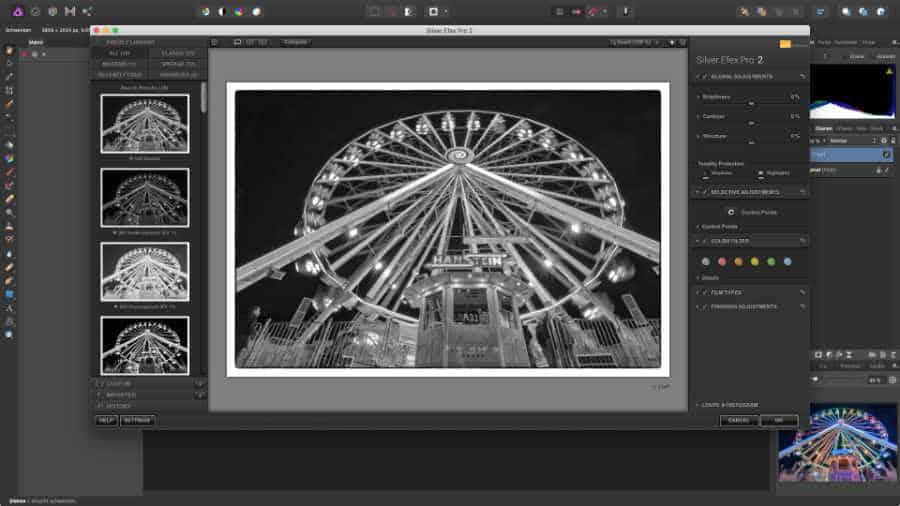 Silver Efex aus Affinity Photo heraus aufgerufen